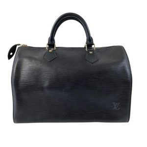Louis Vuitton Epi Speedy 30 in Black Satchel Tote